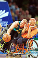 141100 - Wheelchair basketball Troy Sachs attacks - 3b - 2000 Sydney match photo.jpg