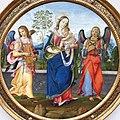 1497 del Garbo Maria mit dem Kind und zwei musizierenden Engeln Gemäldegalerie Kat.Nr. 90 anagoria.jpg
