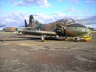 No. 14 Squadron RNZAF - A BAC Strikemaster Mk.88 which served with 14 Squadron from 1975 to 1993. It was photographed in May 2007 at Ohakea.