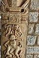 15th-16th century Vaishnavism Vitthala temple Hanuman fighting in Lanka Ramayana, Hampi Hindu monuments Karnataka.jpg