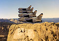 175th Tactical Fighter Squadron A-7D Corsair IIs fly past Mount Rushmore.jpg