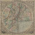 1848 Colton Map of New York City and Vicinity (33 Miles Around) - Geographicus - NewYork33Miles-colton-1848.jpg