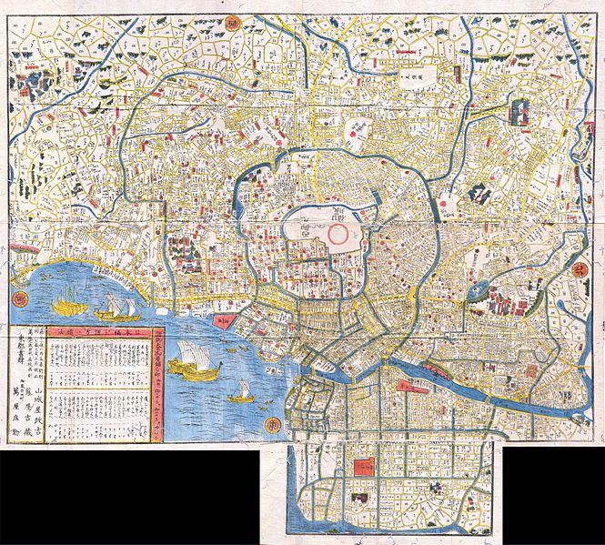 File:1849 Edo Period Japanese Woodcut Map of Edo or Tokyo Japan - Geographicus - Edo-japan-1849.jpg