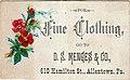 1881 - David S Menges & Company - Trade Card - Allentown PA.jpg