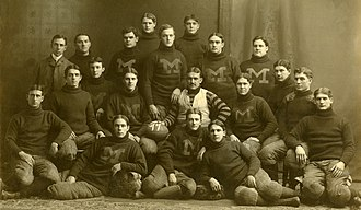 1899 Michigan Wolverines football team - Image: 1899 Michigan Wolverines football team