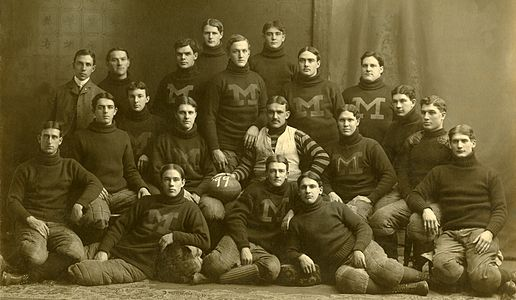 Official photograph of 1899 University of Michigan football team