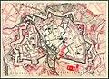1900 circa Stadtplan Hannover Befestigung um 1300 und um 1650, Straßenverlauf um 1900, evtl. Karl Friedrich Leonhardt, Ausschnitt.jpg