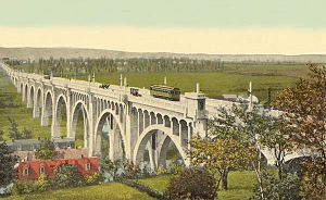 Albertus L. Meyers Bridge - Postcard (dated 1916) depicting Allentown's Eighth Street Bridge.