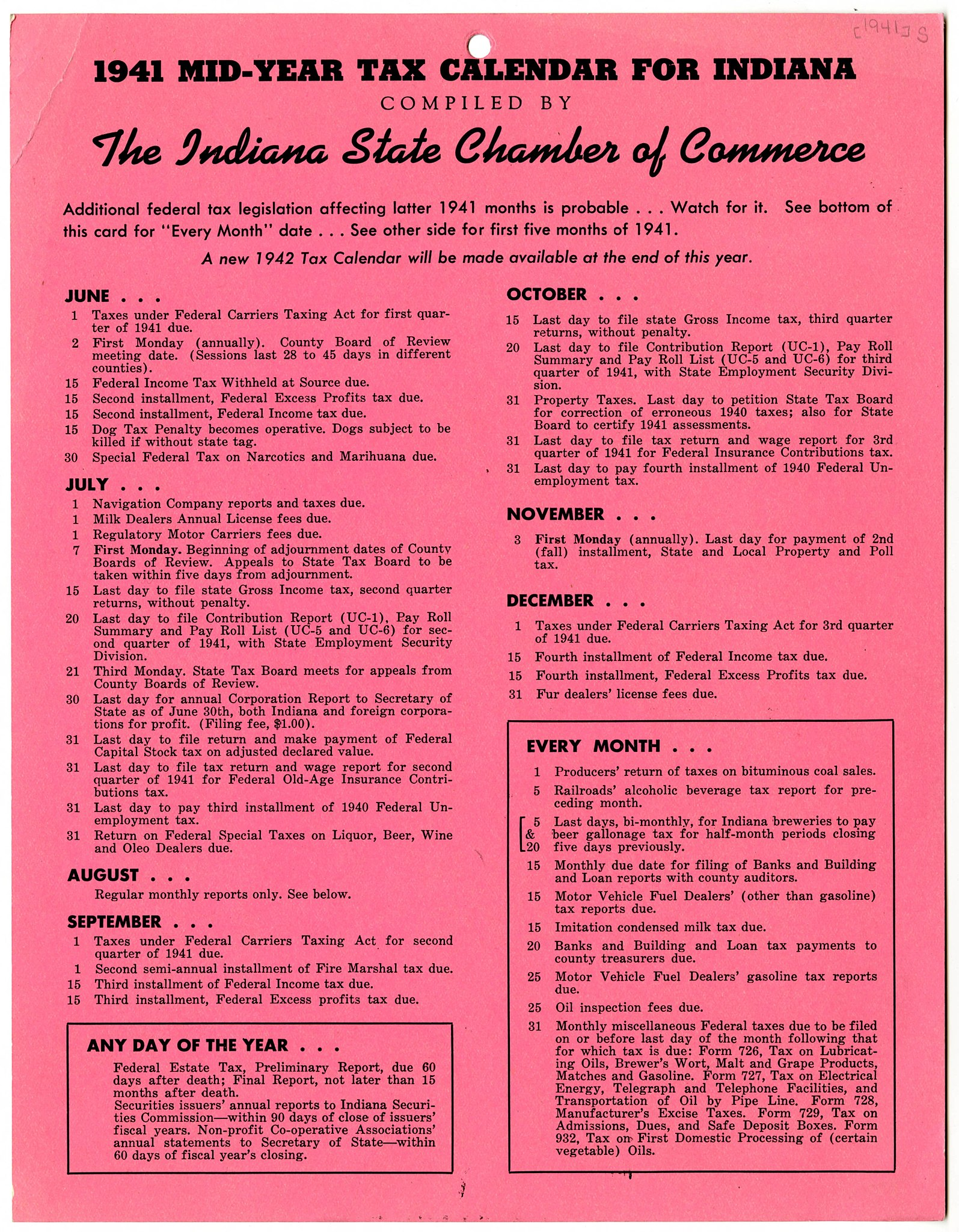 File:1941 mid-year tax calendar for Indiana - DPLA - dae89696f77e09c596eacc3c2f4a4be8 (page 1).jpg - Wikimedia Commons