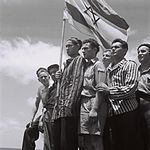 19450715 Buchenwald survivors arrive in Haifa