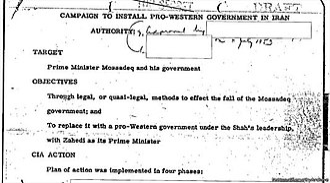 1953 Iranian coup d'état - Confirmation for execution of Operation Ajax