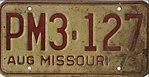 1973 Missouri license plate PM3-127.jpg