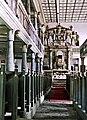 19850706320NR Rohr Wehrkirche Kanzelaltar mit Orgel.jpg