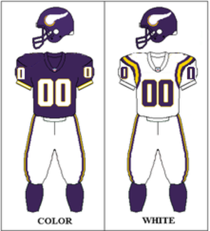 1993 Minnesota Vikings season - Image: 1995 Minnesota Vikings uniforms