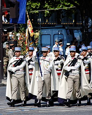 1st Spahi Regiment - The 1st Spahis in the Bastille Day military parade of 2008.