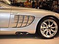 2005 silver Mercedes SLR passenger side exhaust.JPG