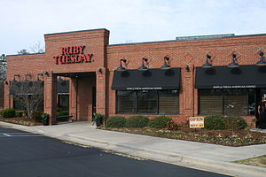 Ruby Tuesday (restaurant) - A Ruby Tuesday restaurant in Durham, North Carolina, August 2008