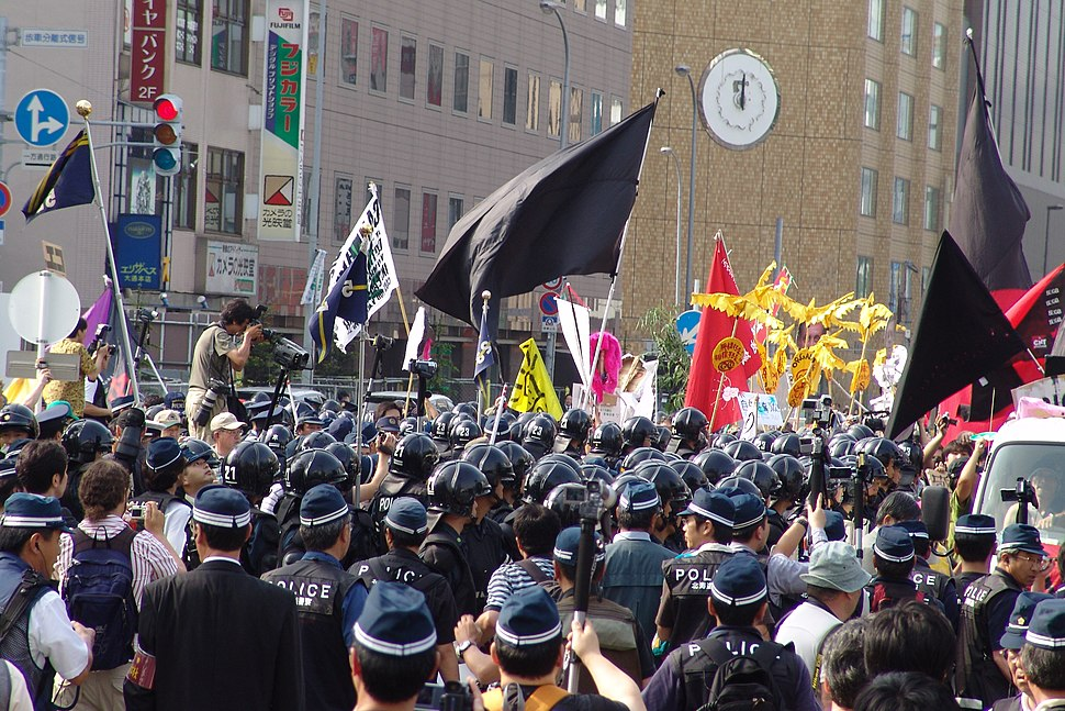 2008 G8 Summit Antiglobalist Demonstration March