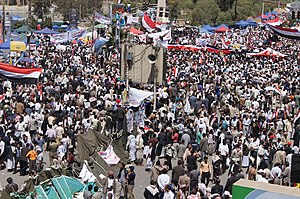 2011–2012 Yemeni revolution (from Al Jazeera) - 20110301-14.jpg