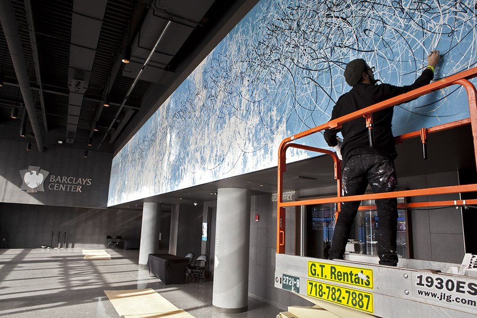 2013 Parla working at Barclays Center