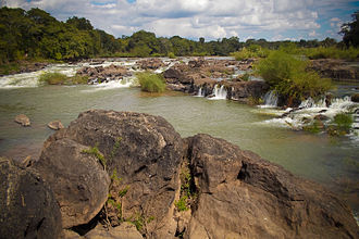 Lugenda River - First waterfall between Cassembe on the EN-242, heading north towards the Niassa Reserve
