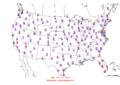 2015-10-10 Max-min Temperature Map NOAA.png