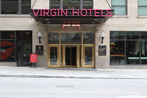 Virgin Hotels - The entrance at Virgin Hotels Chicago, the first Virgin Hotels hotel