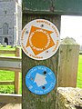 2018-04-20 Footpath signs, Parish church of Saint Mary the Virgin, Northrepps, Cromer (2).JPG