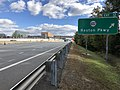 2018-10-24 12 02 48 View east along Virginia State Route 267 (Dulles Toll Road) at Exit 12 (Virginia State Route 602-Reston Parkway) in Reston, Fairfax County, Virginia.jpg