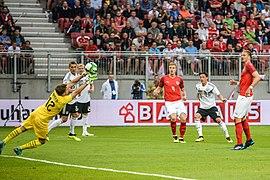 20180602 FIFA Friendly Match Austria vs. Germany Mesut Oezil scoring 850 0797.jpg