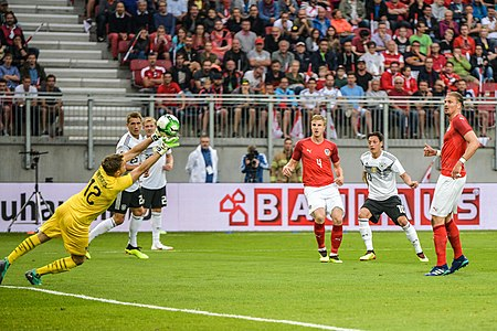 20180602 FIFA Friendly Match Austria vs. Germany Mesut Oezil scoring 850 0797.jpg