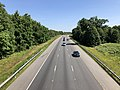 2019-06-24 10 43 50 View north along the southbound lanes of Interstate 95 and U.S. Route 17 from the overpass for Virginia State Route 620 (Harrison Road) in Fourmile Fork, Spotsylvania County, Virginia.jpg
