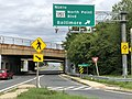2020-08-03 15 33 31 View east along Maryland State Route 150 (Eastern Avenue-Boulevard) at the exit for Maryland State Route 151 NORTH (North Point Boulevard, Baltimore) in Dundalk, Baltimore County, Maryland.jpg