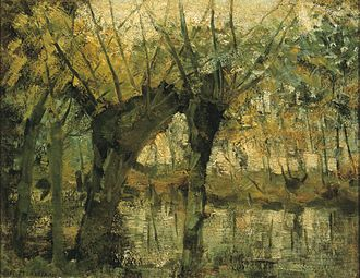 Piet Mondrian - Willow Grove: Impression of Light and Shadow, c. 1905, oil on canvas, 35 × 45 cm, Dallas Museum of Art