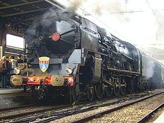 SNCF Class 241P - 241.P.17 at Paris Gare de l'Est, 8 May 2010