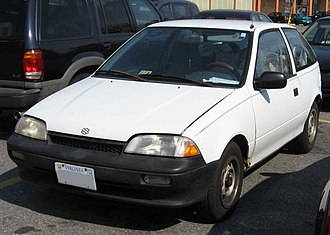 Suzuki Cultus - 1989–1991 model year Suzuki Swift 3-door (US)