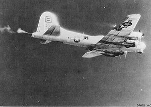 95th Air Base Wing - 334th squadron B-17 under attack by German fighters