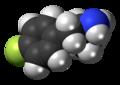 4-Fluoroamphetamine molecule spacefill.png
