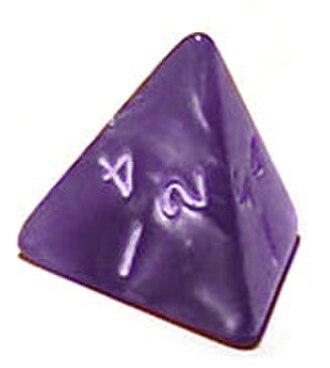 Tetrahedron - 4-sided die