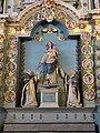 4426.Rosenkranzaltar-Altar des Heiligen Rosenkranzes(17.Jh.)Jungfrau Maria mit Kind umgeben von Dominikus und der Heiligen Katharina von Siena-In den Medaillons die Geheimnisse des Rosenkranzes.JPG