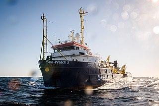 privat betriebenes Seenotrettungsschiff