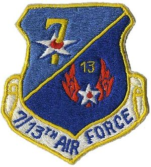 United States Air Force in Thailand - Image: 7 13 airforce patch