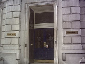 Kenneth Widmerpool - The entrance to the Cabinet Office in Whitehall, London
