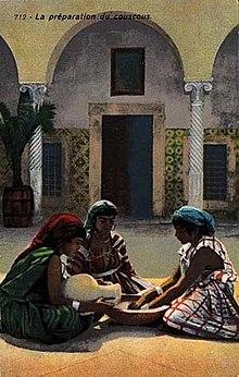 Preparazione del cuscus.