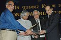 A.P.J. Abdul Kalam presenting the National Award to Dr. A.K.S. Bhujanga Rao, President (Technical), Natco Pharma Limited for the successful commercialization of indigenous technology Hyderabad.jpg