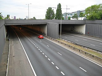 A1(M) motorway - The northern portal of the Hatfield Tunnel