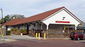 Tarpon Springs Depot - Back of the depot building.