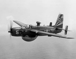 Grumman AF Guardian - A AF-2W from VS-37 in flight circa July 1957