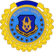 USAFRC Recruiting Service Century Club Badge