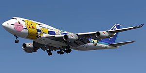 ANA Boeing 747-400 (JA8962), in Pokemon specia...